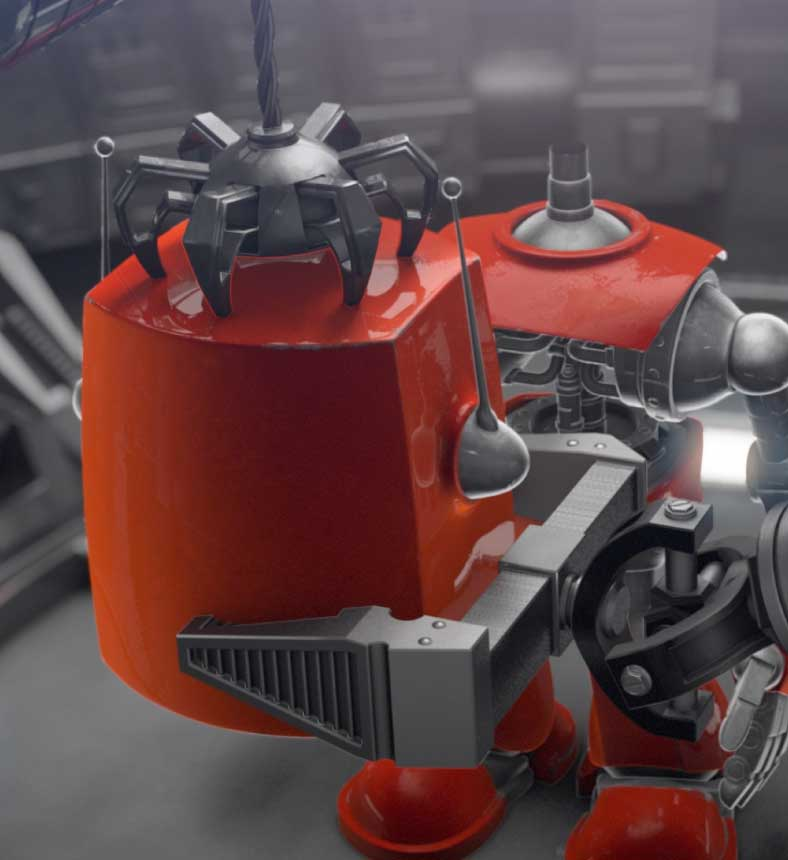 3D Character Animation des DOAG Roboter als Messefilm.
